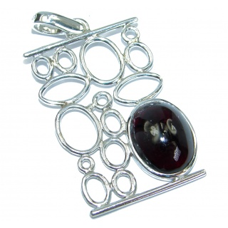Beautiful genuine 15ct Garnet .925 Sterling Silver handcrafted Pendant