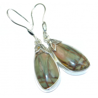 Great Picasso Jasper .925 Sterling Silver handmade earrings