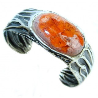 Top Quality Mexican Opal .925 Sterling Silver handmade Bracelet / Cuff