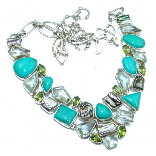 Fabulous Flawless Chrysophrase .925 Sterling Silver handcrafted necklace