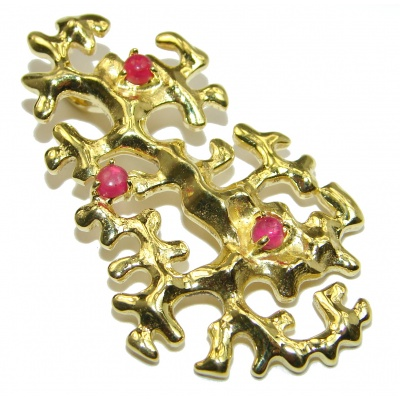 Beautyful Ruby Gold over .925 Sterling Silver handmade Pendant