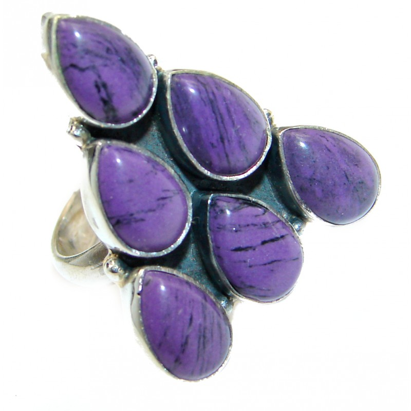 Be Bold Huge Purple Sugalite Sterling Silver handmade Ring s. 6