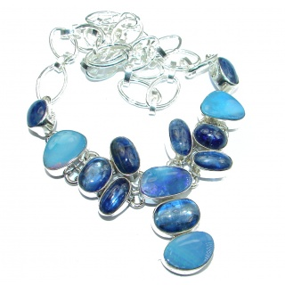 Genuine Australian Doublet Opal .925 Sterling Silver brilliantly handcrafted necklace