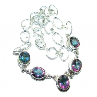 Chunky Style Magic Topaz Sterling Silver necklace