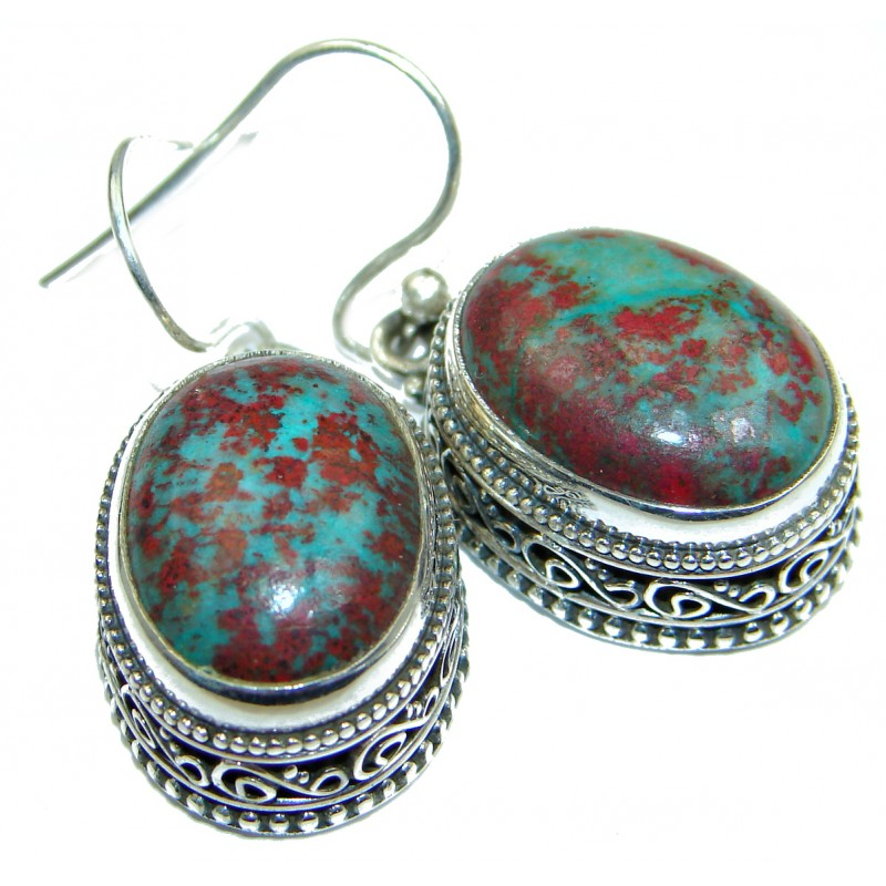 Natural Sonora Jasper .925 Sterling Silver handcrafted Earrings