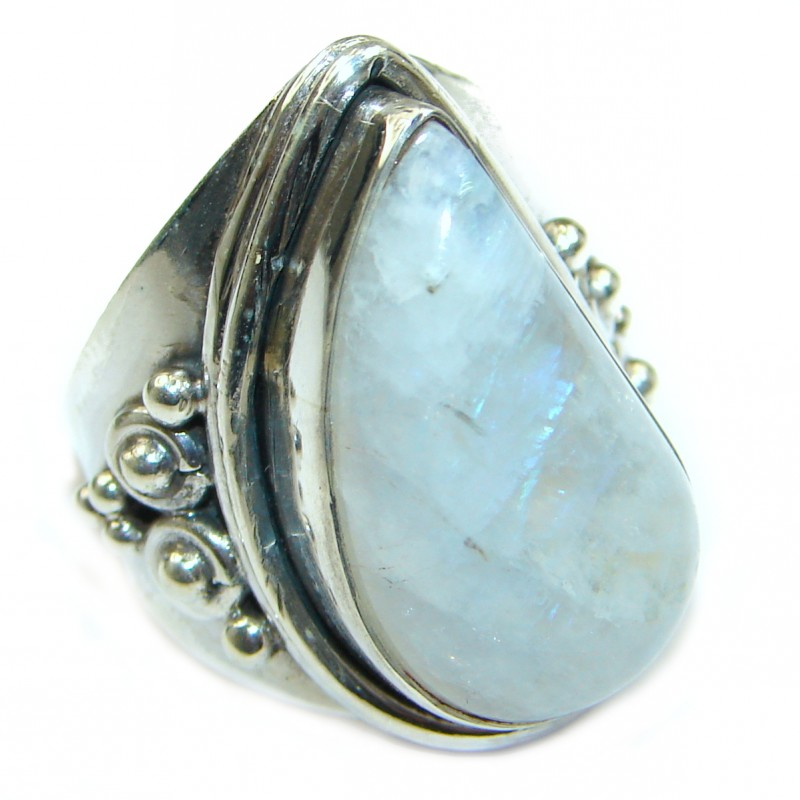 Energazing Moonstone .925 Sterling Silver handmade Poison Ring size 7