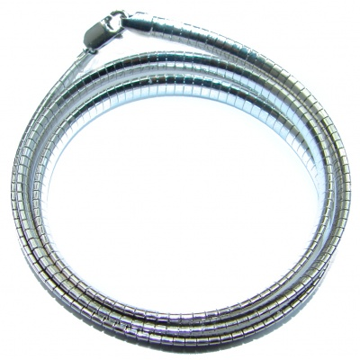 Omega Sterling Silver Chain 20'' long, 5 mm wide