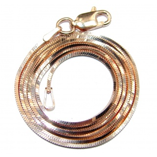 Square Snake Rose Gold over Sterling Silver Chain 20' long, 1.5 mm wide