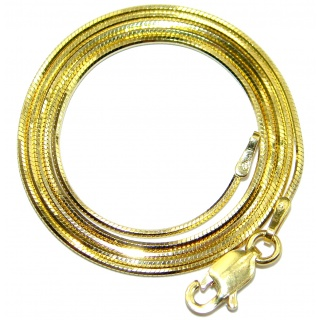 "Snake Gold over Sterling Silver Chain 18"" long, 1.5 mm wide"