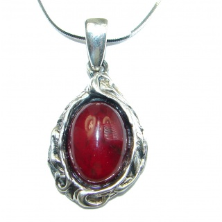 New Universe Genuine Garnet .925 Sterling Silver handmade necklace
