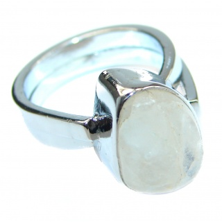 Energazing Moonstone .925 Sterling Silver handmade Poison Ring size 6