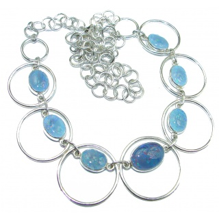 Chunky Doublet Opal .925 Sterling Silver handcrafted necklace