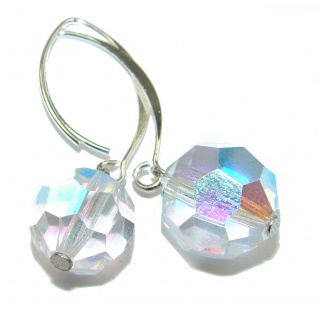 Delicate Swarovski Crystal Sterling Silver earrings