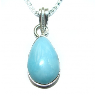 Luxury Larimar .925 Sterling Silver handcrafted necklace