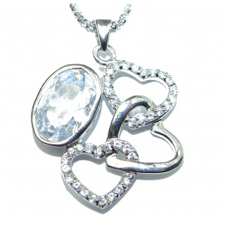 Charming Cubic Zirconia .925 Sterling Silver handcrafted necklace