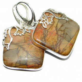 Bohemian Style Morrisonite .925 Sterling Silver handcrafted Earrings