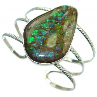 Beautiful New Design Ammolite .925 Sterling Silver handmade Bracelet / Cuff