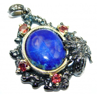 Perfect Natural Lapis Lazuli .925 Sterling Silver Pendant
