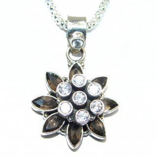 Cleopatra Smoky Topaz .925 Sterling Silver handmade necklace
