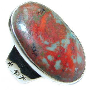 Sonora Jasper .925 Sterling Silver handcrafted Ring size 8