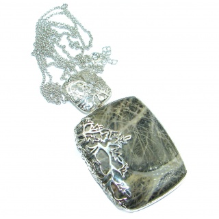 Genuine Picasso Jasper .925 Sterling Silver handmade necklace