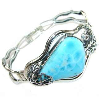 Perfect Harmony Blue Larimar .925 Sterling Silver handcrafted Bracelet