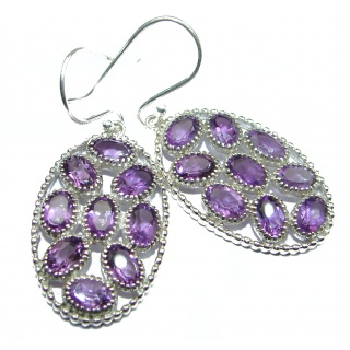 Authentic Amethyst .925 Sterling Silver handmade earrings