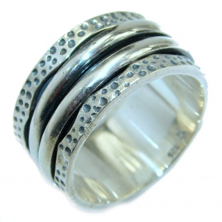.925 Sterling Silver handmade ring size 9 1/2
