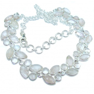 New Universe Genuine Rose Quartz .925 Sterling Silver handmade necklace