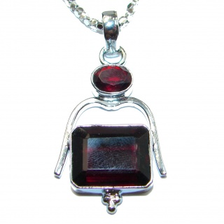 Back to Nature Beautiful Red Quartz .925 Sterling Silver handcrafted Necklace