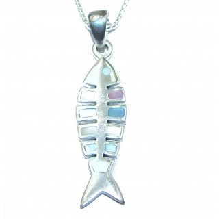 Fish Blister Pearl .925 Sterling Silver necklace