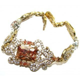 Special Item created Golden Topaz 925 Sterling Silver Bracelet
