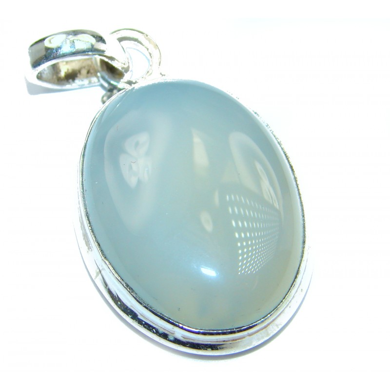 Huge Agate .925 Sterling Silver handcrafted Pendant