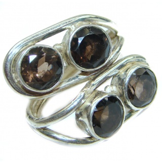 Smoky Topaz .925 Sterling Silver Ring s. 9 1/2