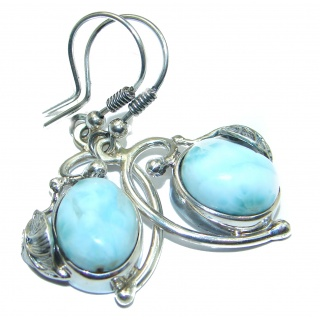 Blue Legacy Larimar .925 Sterling Silver handmade earrings
