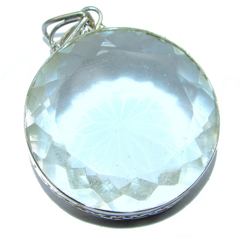 Vintage Design Amazing White color Quartz .925 Sterling Silver Pendant