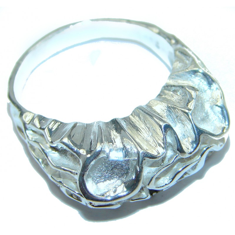 Excellent quality Crazy Lace Agate .925 Sterling Silver Ring s. 10 3/4
