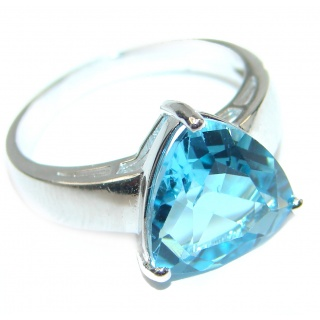 Energazing Swiss Blue Topaz .925 Sterling Silver handmade Ring size 7