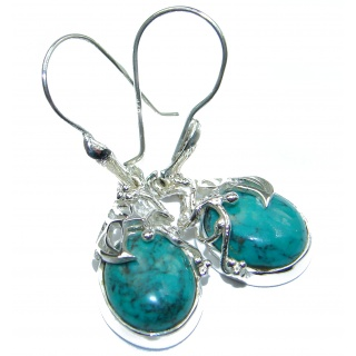 Turquoise .925 Sterling Silver handmade Earrings
