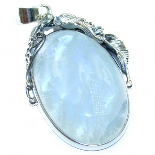 Back to Nature Fire Moonstone .925 Sterling Silver handmade Pendant