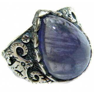 Authentic 27ct Tanzanite .925 Sterling Silver handmade Ring s. 8