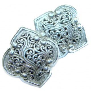 Bali Treasure .925 Sterling Silver handmade earrings