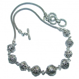 Happy Live Vintage Design best quality .925 Sterling Silver handmade necklace