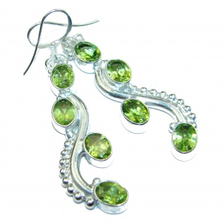 Peridot .925 Sterling Silver handmade earrings