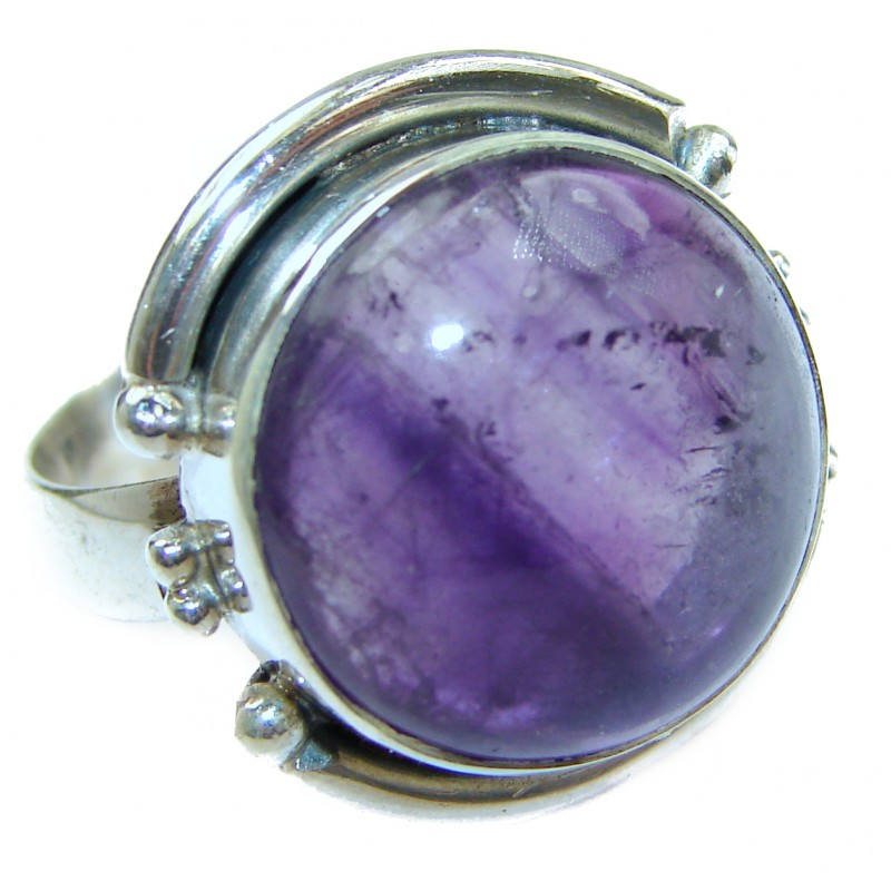 Pink Amethyst .925 Sterling Silver handmade ring size 8 1/4