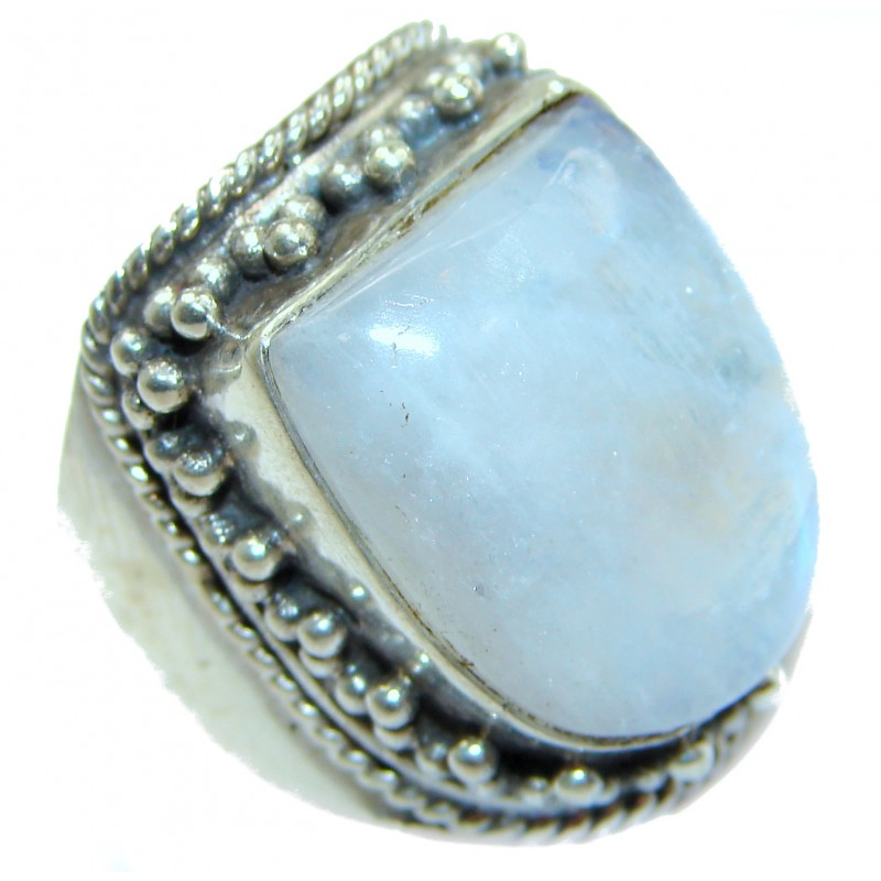 Energazing Moonstone .925 Sterling Silver handmade Ring size 6
