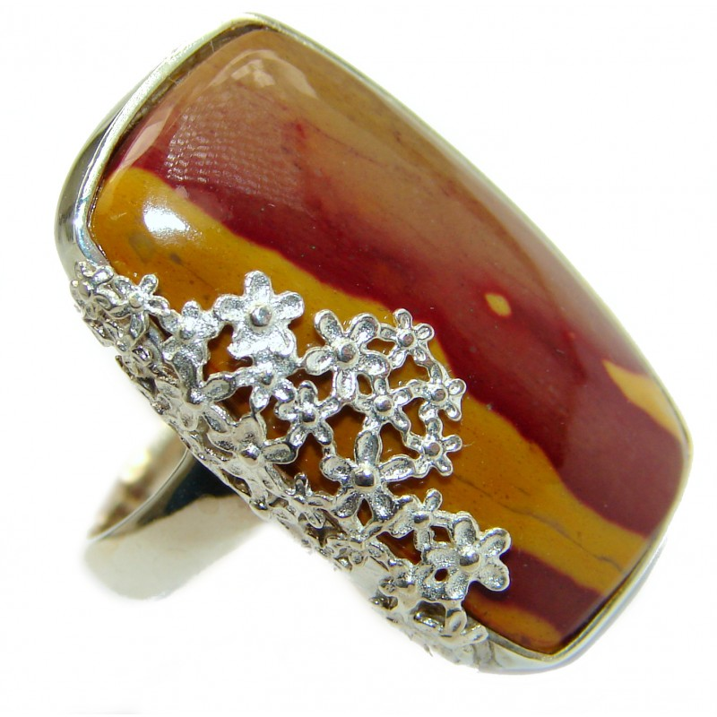 Mookaite .925 Sterling Silver handmade ring size 7