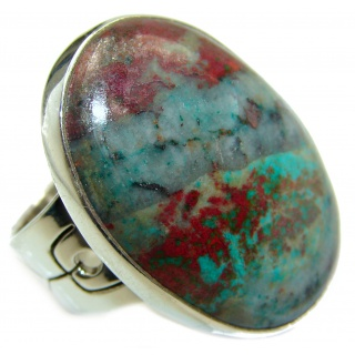 Sonora Jasper .925 Sterling Silver handcrafted Ring size 7 1/4