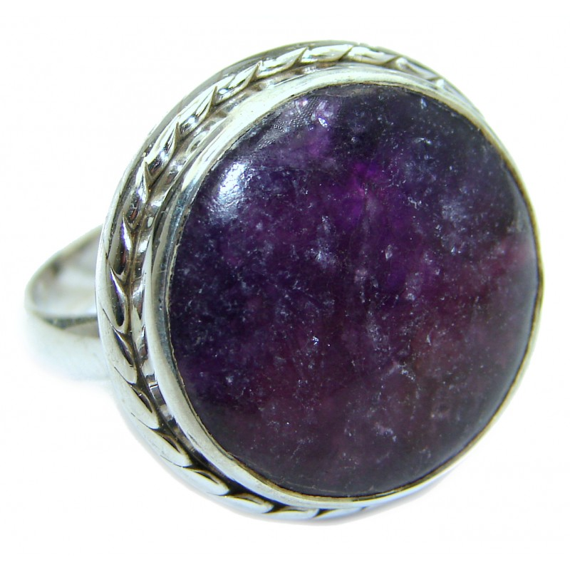 Natural Russian Eudialyte .925 Sterling Silver Ring s. 9 1/4