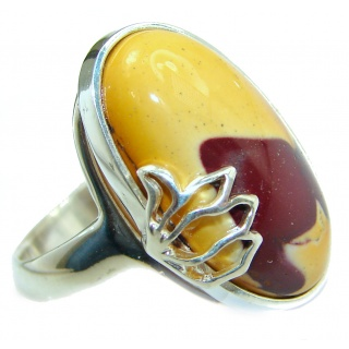 Mookaite .925 Sterling Silver handmade ring size 8